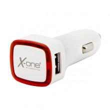 Car Charger Ref. 138390 2 x USB-A White Red