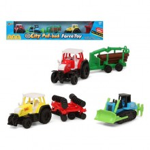 Vehicle Playset Tractor 119503 (3 pcs)