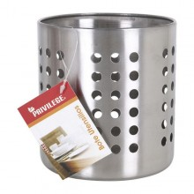 Pot for Kitchen Utensils Privilege Stainless steel Circular (12 X 12 x 13 cm)