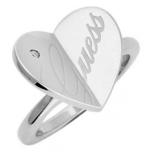 Ladies' Ring Guess USR11104-52 (Size 16)