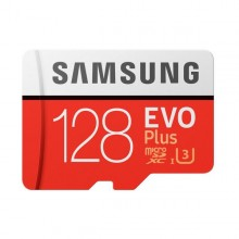 Carte Micro SD Samsung EVO Plus MB-MC128G 128 GB Rouge Blanc
