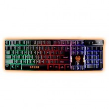 Teclado Gaming iggual IGG315781 LED RGB Negro
